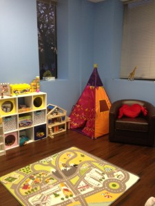 Play therapy room at The Wellness Center RI
